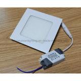 Luz de painel do diodo emissor de luz-- Painel magro quadrado montado encaixado 6W do painel 6W