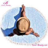 Stuoia di vendita calda della coperta della spiaggia stampata mandala esterna blu normale