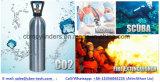 의학 산업 알루미늄 가스통 탱크 0.5L-50L