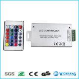RGB SMD LEDのストリップのための24のキーLEDのコントローラLED IRの遠隔調光器DC12V 12A