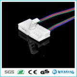 5050 RGB防水LEDの滑走路端燈のための10mm 4pin Solderlessのコネクターケーブル