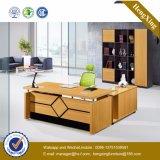 Klassisches L Form-Büro-Möbel-weißer Melamin-Büro-Schreibtisch (NS-NW043)