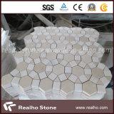 Collegare il mosaico di marmo a forma di per la decorazione della stanza da bagno