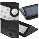 Luz al aire libre solar impermeable ahorro de energía del sensor de movimiento del jardín PIR de la iluminación de la luz 44 LED de la lámpara de pared