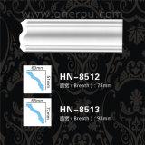 Tête ordinaire de plafond de polyuréthane moulant la corniche Hn-8512 de panneau d'unité centrale