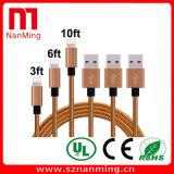 Pin trançado global da corda 8 ao carregador do USB e ao cabo de Syncing dos dados