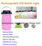 Lámpara que acampa LED de la botella solar del silicón para al aire libre (CL-FD02)