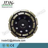 Jdk Diamond Double Row Cup Колесо для шлифования гранита / Абразивно-полировочные инструменты