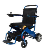 Sedia a rotelle piegante portatile leggera di potere della presidenza astuta con la batteria di litio