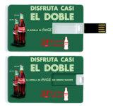로고는 USB 섬광 드라이브 신용 카드를 인쇄했다