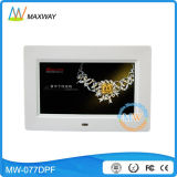 "Adelgazar 7 "" pulgadas LCD Digital Photoframe con el vídeo MP3 MP4 del bucle"