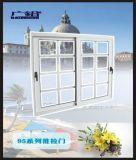 Rotura de puente térmico la capa del polvo de vidrio, blanco color de ventana deslizante con pantalla