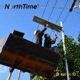 luz de rua solar de 8m com lâmpada do diodo emissor de luz e painel solar 30W