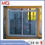 Vidrio Windows de desplazamiento del doble del perfil del PVC con la red de mosquito de la fábrica en Guangzhou