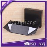 رفاهية عادة سوداء 2 قطعة [جفت بوإكس] صلبة ورقيّة مع قابل للانهيار أسلوب قاعدة