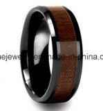 Ring van de Juwelen van het Plateren van het Ontwerp van de Ring van het wolfram de Nieuwe Populaire Zwarte