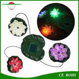 太陽エネルギーの防水プールの庭のための浮遊ロータス太陽軽い夜花ランプは装飾を池にする