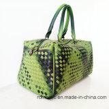 Мешок багажа женщин повелительницы PU сплетенный сумок конструкции тавра кожаный (D1302)
