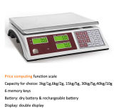 Digital Price Scale with Dry/Rechargeable Battery Acs Series