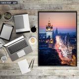 Réalisme Cityscape Canvas Print From Photo