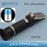 Refractómetro inferior de Lohand Brix de la alta resolución 0.2 del rango de prueba 0-20% (LH-T20)