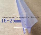 Tira de tempo de vidro macia da tira do selo de porta do chuveiro do PVC para a porta