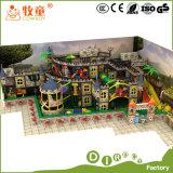 Tema da cidade para a fibra de vidro macia interna do projeto do campo de jogos do castelo do divertimento
