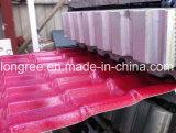 Chaîne de production glacée ridée par PVC+ASA/PMMA de tuile de toit de plastique
