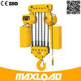 alzamiento de cadena eléctrico de la capacidad 15t con el gancho de leva