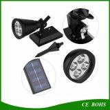 Lampe de jardin solaire à la lumière solaire à LED 4 LED Spot Light Outdoor Lawn Landscape Spotlight