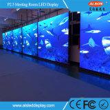 HD cubierta a todo color P2.5 Pantalla LED para la sala de reuniones