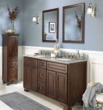 Vanità rotonda della stanza da bagno del doppio dispersore della maniglia di stile del portello classico europeo dell'agitatore