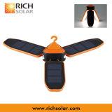 Luz solar de acampamento ao ar livre do diodo emissor de luz do uso com gancho