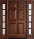 Porte avant extérieure de Chambre en bois de double d'entrée avec 2 Lites (GSP1-036)