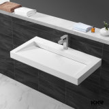 Твердый поверхностный каменный тазик мытья тщеты Countertop ванной комнаты