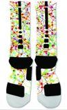 Fette abstrakte Farbanstrich-Entwurfs-Auslese-athletische Socke