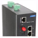 De industriële Schakelaar van het Netwerk Ethernet met 7 Ethernet 1 Haven van de Vezel