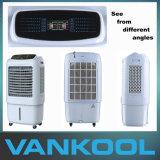 Verdampfungsluft-Kühlvorrichtung und Klimaanlage mit staubdichtem Ineinander greifen