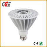 ÉPI PAR38 de l'éclairage LED 85-265V 0.9PF 18W du projecteur PAR38 de 18W DEL