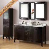 Cabina curvada de calidad superior del baño de la vanidad del cuarto de baño de madera sólida
