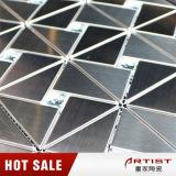 Mosaico classico di vetro dello specchio della miscela del mosaico dell'acciaio inossidabile di stile