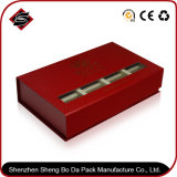 Rectángulo de regalo duro de empaquetado de papel modificado para requisitos particulares de la cartulina de la insignia