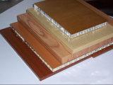 El panel de aluminio del panal del final de madera