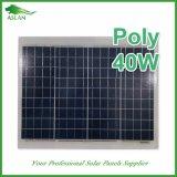 a-Grade поли панель солнечных батарей 40W для солнечного уличного освещения