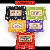 обломоки покера глины 760PCS установили/обломоки казина глины кроны установленные для играя в азартные игры игры с алюминиевым случаем Ym-Sghg003
