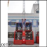 Grua dobro de alta velocidade do edifício da construção da gaiola de Gaoli Sc200/200