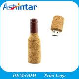Hölzerner Flaschen-Form USB-Blitz-Laufwerk-Speicher-Stock