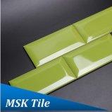 """"""" mattonelle lustrate di ceramica smussate del sottopassaggio di lucentezza verde 3X6"""