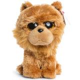 プラシ天犬はカスタムプラシ天のおもちゃをもてあそぶ