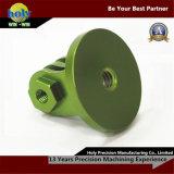 녹색은 전기 CNC 회전 선반 알루미늄 CNC 기계로 가공 부속을 양극 처리했다
